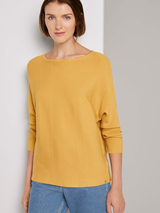 Pullover mit Fledermausärmeln - Frauen - Indian Spice Yellow - 5 - TOM TAILOR Denim