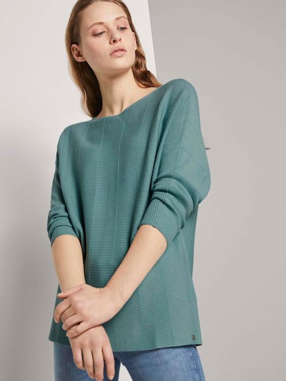 Pullover mit Fledermausärmeln - Frauen - Mineral Stone Blue - 5 - TOM TAILOR Denim