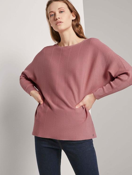 Pullover mit Fledermausärmeln - Frauen - cozy rose - 5 - TOM TAILOR Denim