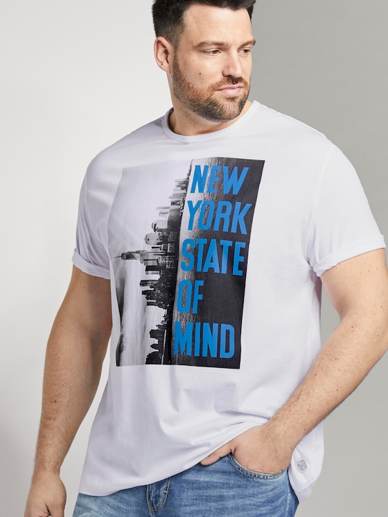 "T-Shirt mit ""New York"" Print - Männer - White - 5 - Men Plus"