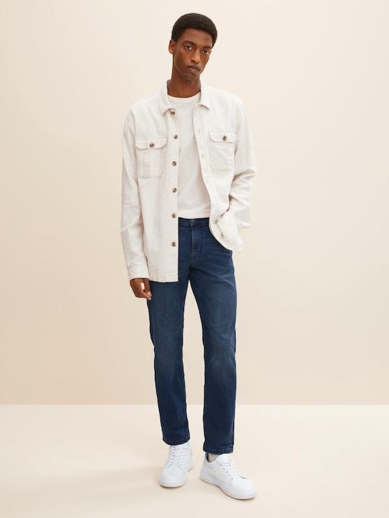 Marvin Straight Jeans mit Taschendetails - Männer - dark blue denim - 3 - TOM TAILOR