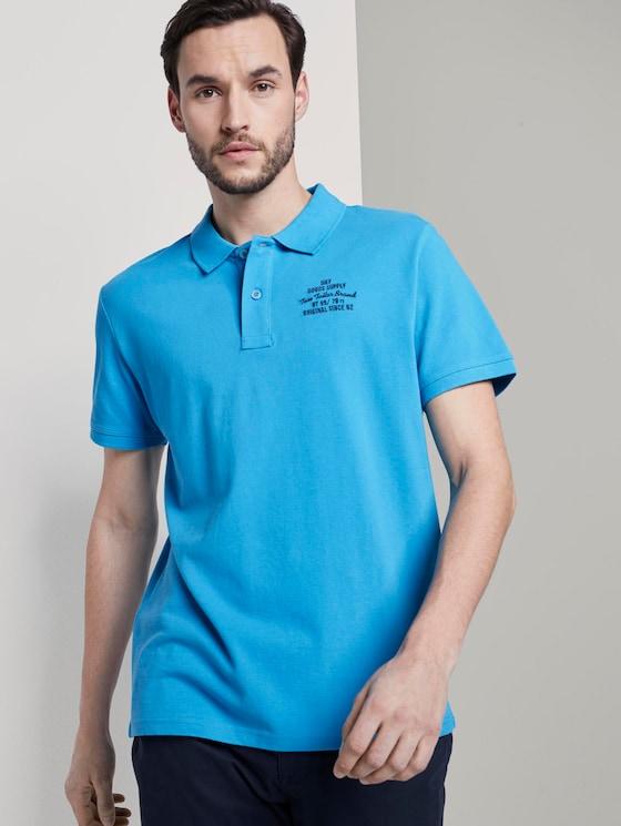 Basic Poloshirt mit kleiner Stickerei - Männer - Day Of Rest Blue - 5 - TOM TAILOR