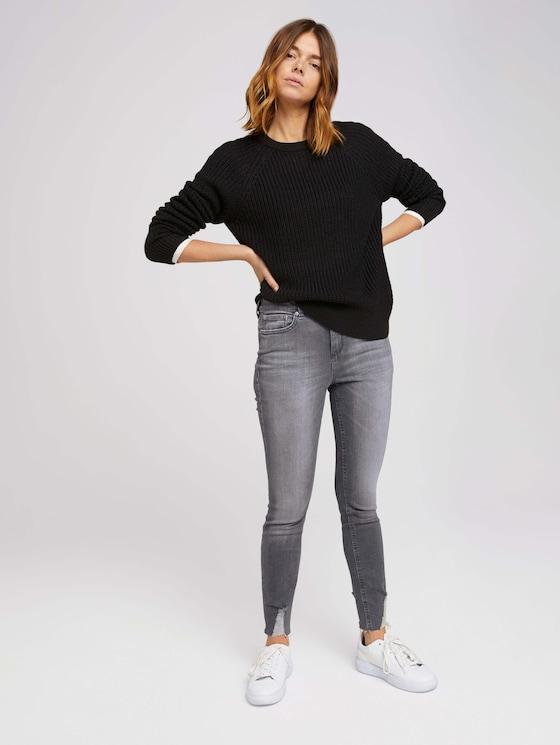 Janna Extra Skinny Jeans Destroyed - Frauen - used mid stone grey denim - 3 - TOM TAILOR Denim