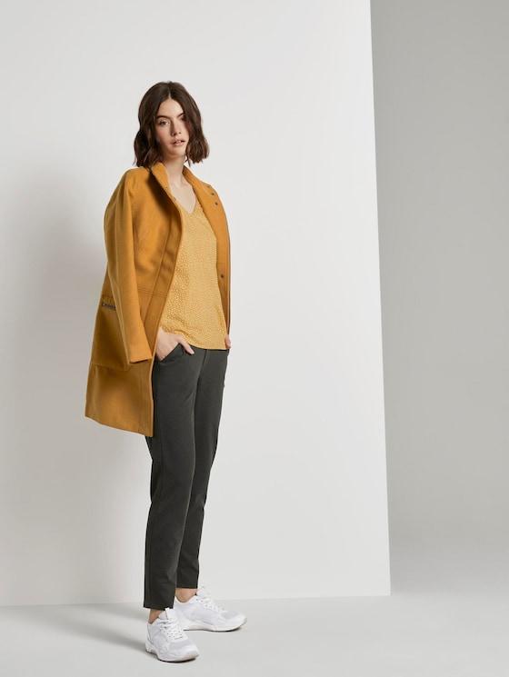 Relaxed Fit Hose mit elastischem Bund - Frauen - Shale Grey Melange - 3 - TOM TAILOR Denim