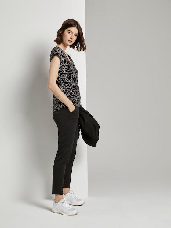 Relaxed Fit Hose mit elastischem Bund - Frauen - deep black - 3 - TOM TAILOR Denim