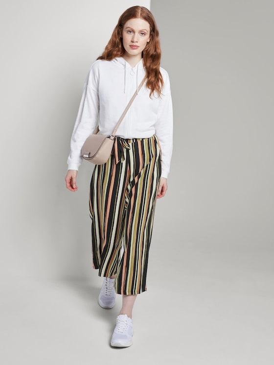 Culotte Hose mit elastischem Bund - Frauen - black multicolor stripe - 3 - TOM TAILOR Denim