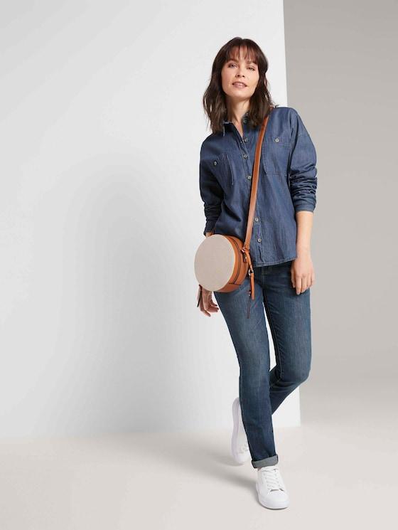 Alexa Slim Jeans - Frauen - Used Mid Stone Blue Denim - 3 - TOM TAILOR