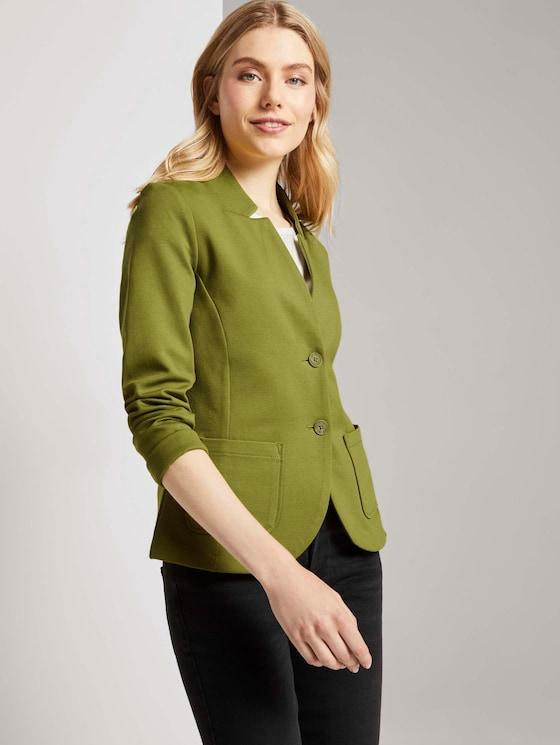 Strukturierter Ottoman Blazer - Frauen - wood green - 5 - TOM TAILOR