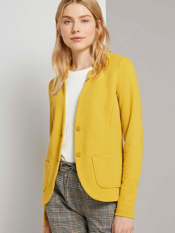 Strukturierter Ottoman Blazer - Frauen - california sand yellow - 5 - TOM TAILOR