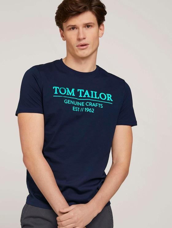 T-Shirt mit Bio-Baumwolle - Männer - Dark Blue - 5 - TOM TAILOR