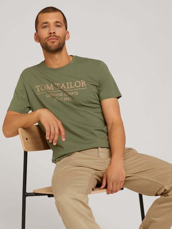 T-Shirt mit Bio-Baumwolle - Männer - Oak Leaf Green - 5 - TOM TAILOR