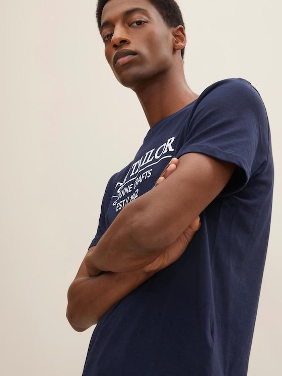 T-Shirt mit Bio-Baumwolle - Männer - Sky Captain Blue - 5 - TOM TAILOR