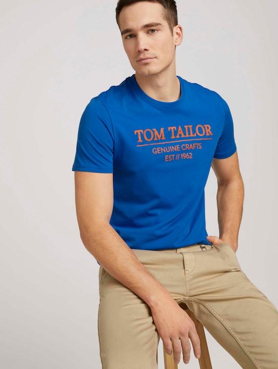 T-Shirt mit Bio-Baumwolle - Männer - Clearly Blue - 5 - TOM TAILOR