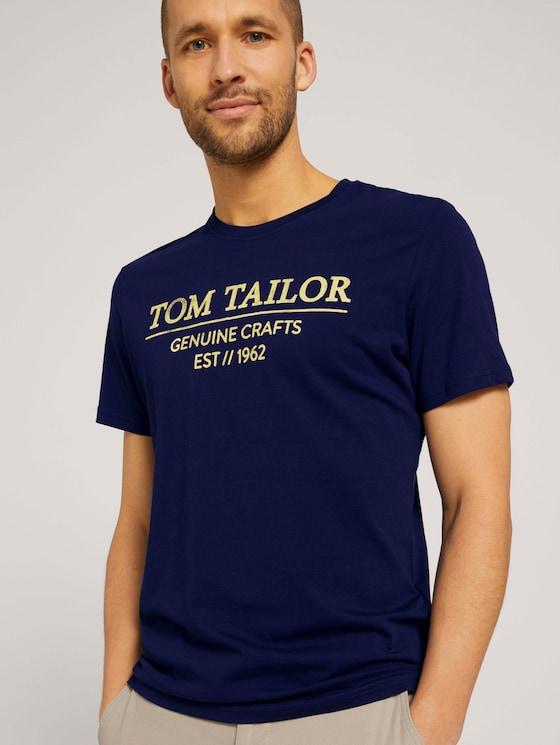 T-Shirt mit Bio-Baumwolle - Männer - azur blue denim - 5 - TOM TAILOR