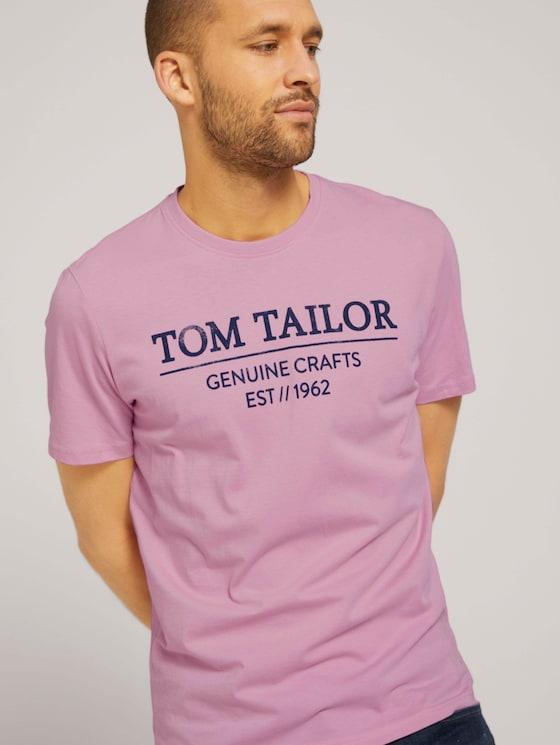 T-Shirt mit Bio-Baumwolle - Männer - Soft Pink - 5 - TOM TAILOR