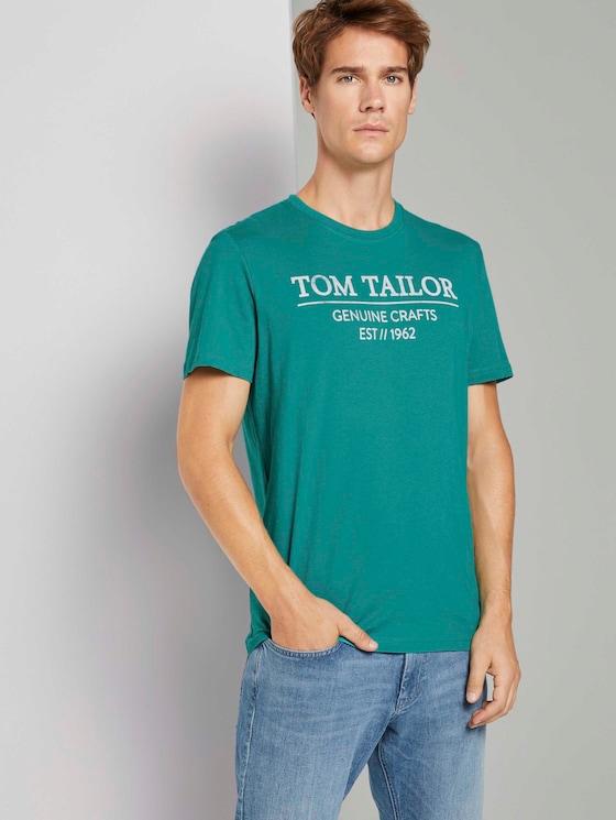 T-Shirt mit Bio-Baumwolle - Männer - new porcelain green - 5 - TOM TAILOR