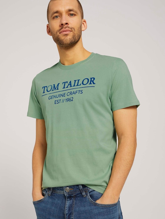 T-Shirt mit Bio-Baumwolle - Männer - light mint green - 5 - TOM TAILOR