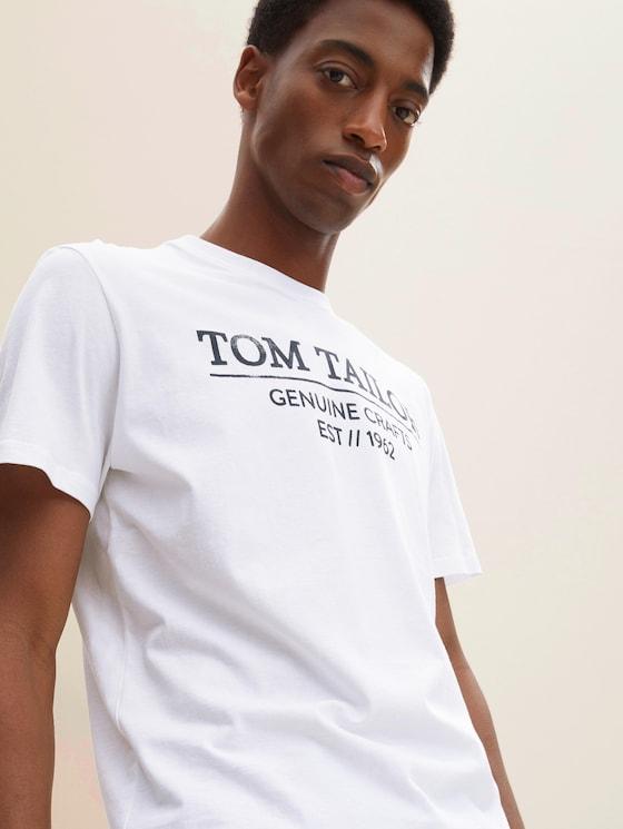 T-Shirt mit Bio-Baumwolle - Männer - White - 5 - TOM TAILOR