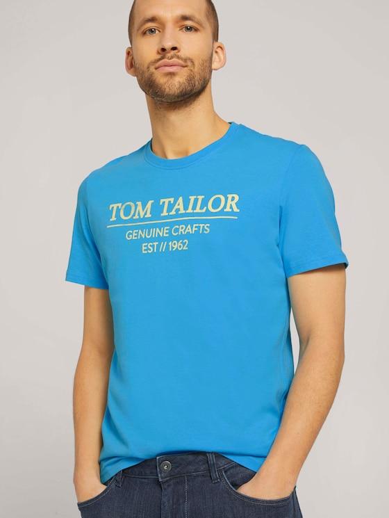 T-Shirt mit Bio-Baumwolle - Männer - north blue - 5 - TOM TAILOR