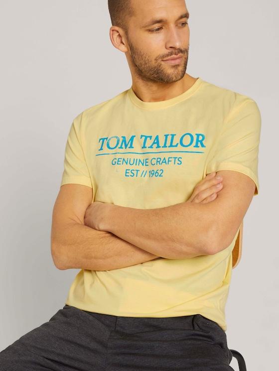 T-Shirt mit Bio-Baumwolle - Männer - pale-banana-yellow - 5 - TOM TAILOR