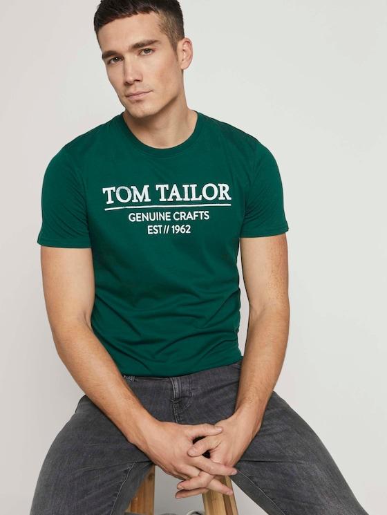 T-Shirt mit Bio-Baumwolle - Männer - dark pine fiorest - 5 - TOM TAILOR