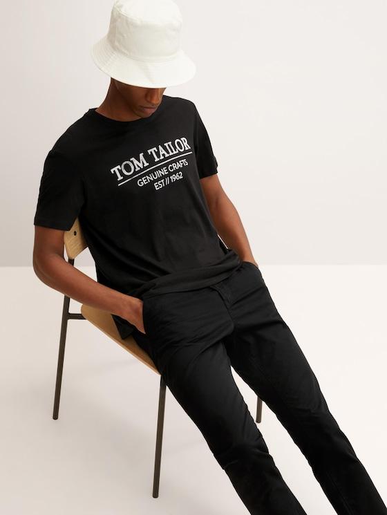 T-Shirt mit Bio-Baumwolle - Männer - Black - 5 - TOM TAILOR