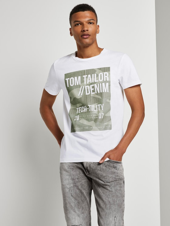 T-Shirt mit Print - Männer - White - 5 - TOM TAILOR Denim