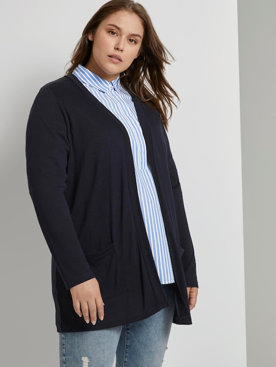 Lockerer Shirt-Cardigan - Frauen - Sky Captain Blue - 5 - My True Me