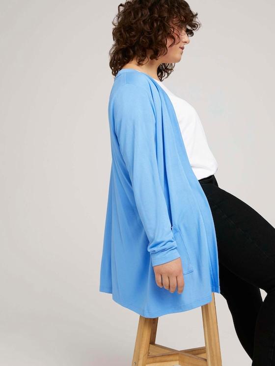 Curvy - Lockerer Shirt-Cardigan - Frauen - sea blue - 5 - My True Me