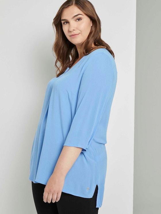 Bluse mit Faltendetails - Frauen - sea blue - 5 - My True Me