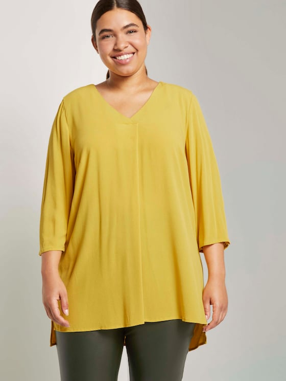 Bluse mit Faltendetails - Frauen - california sand yellow - 5 - My True Me