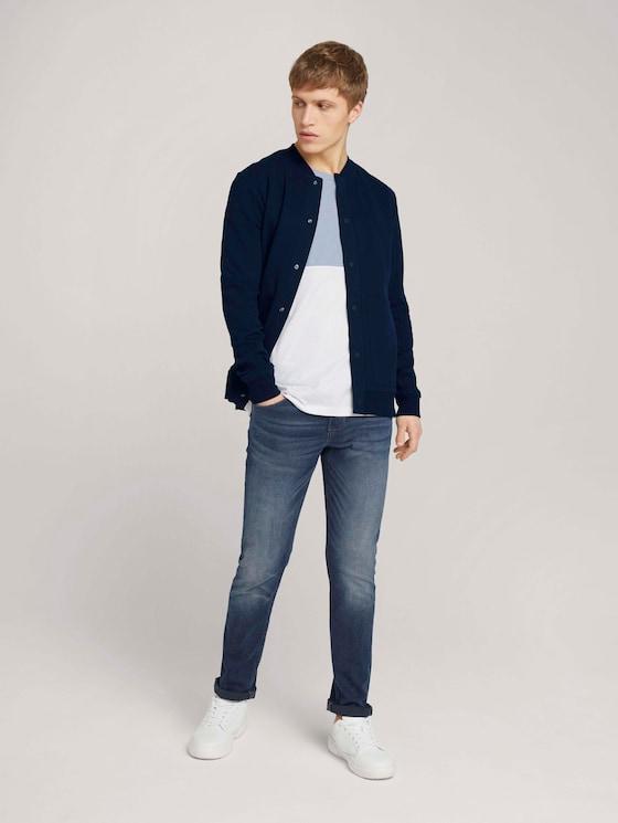 Aedan Straight Jeans mit recycelter Baumwolle im Vintage-Look - Männer - dark stone blue black denim - 3 - TOM TAILOR Denim