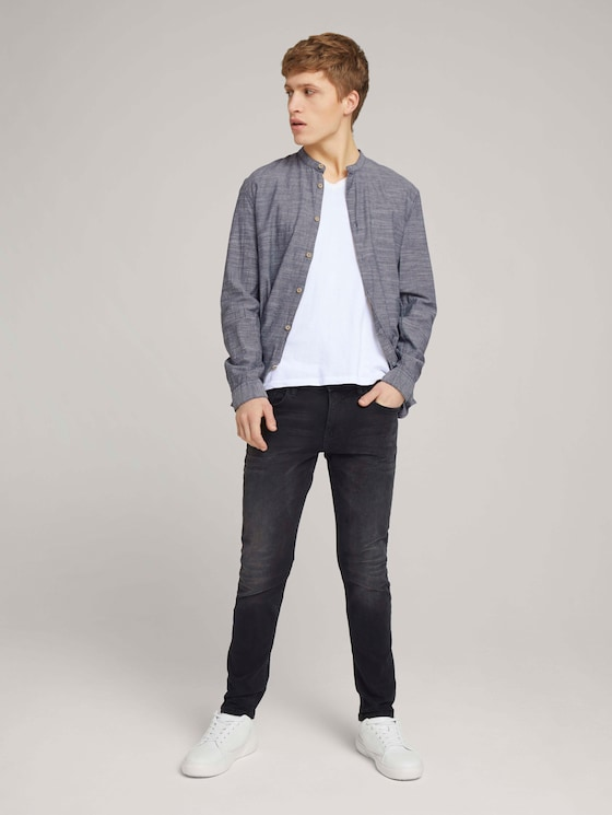 Aedan Straight Jeans im Vintage-Look - Männer - clean mid stone grey denim - 3 - TOM TAILOR Denim