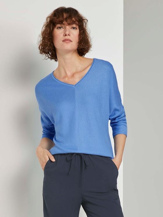 Pullover mit Fledermausärmeln - Frauen - sea blue - 5 - TOM TAILOR