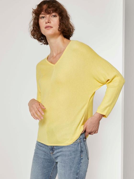 Pullover mit Fledermausärmeln - Frauen - honey popcorn - 5 - TOM TAILOR