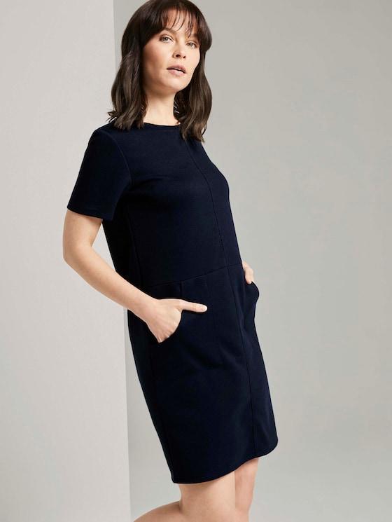 Kurzarm-Kleid mit Taschen - Frauen - Sky Captain Blue - 5 - TOM TAILOR
