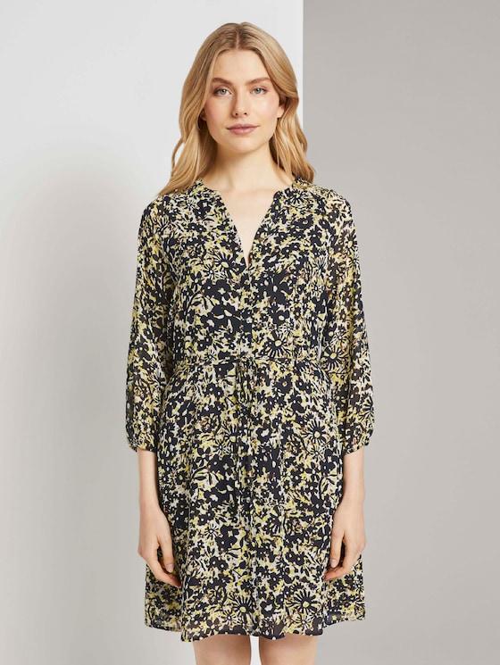 Chiffon-Kleid mit Blumenprint (gelb) - von TOM TAILOR