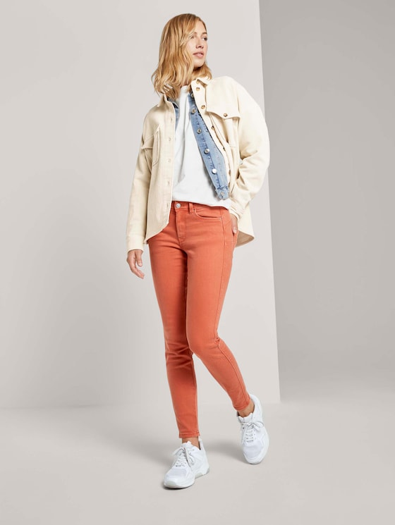 Jona Extra Skinny Push-Up Jeans - Frauen - burnt coral - 3 - TOM TAILOR Denim
