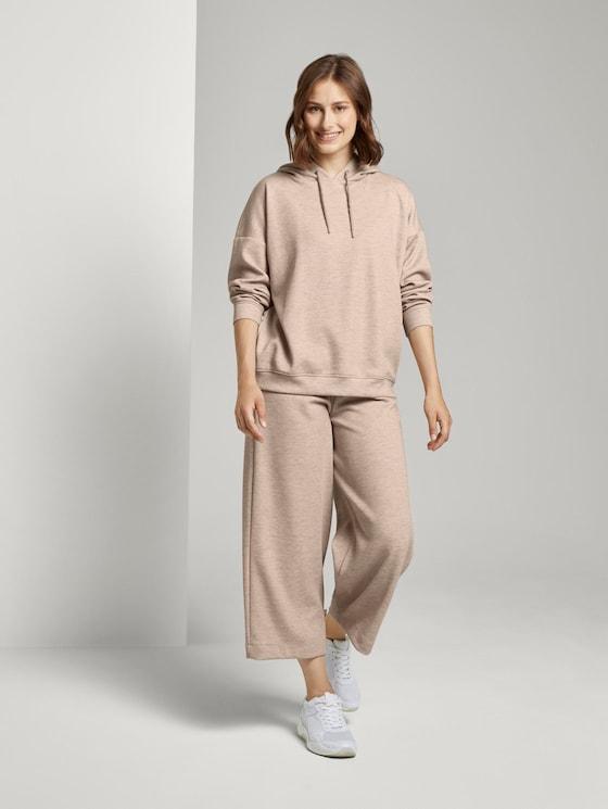 Weiche Culotte-Hose aus Strick - Frauen - cozy beige melange - 3 - TOM TAILOR Denim