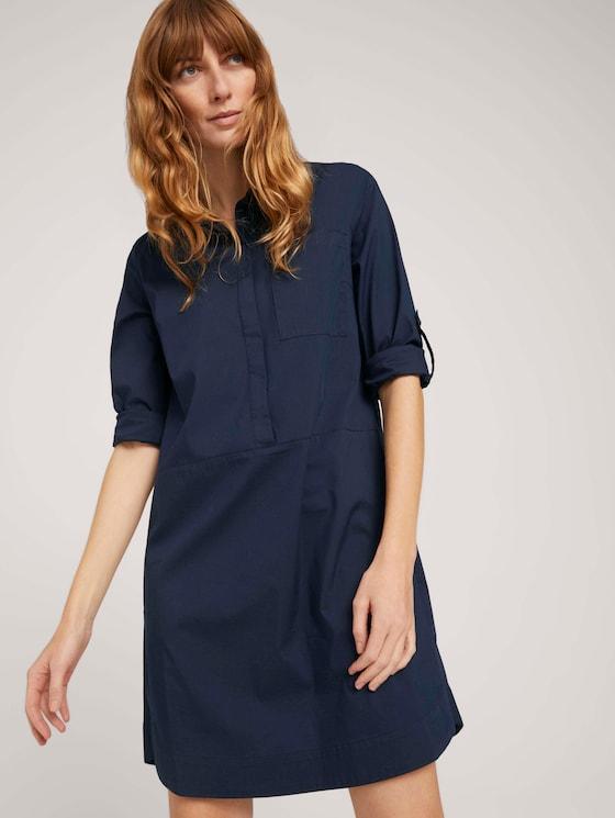 Blusenkleid mit Faltendetails - Frauen - Sky Captain Blue - 5 - TOM TAILOR