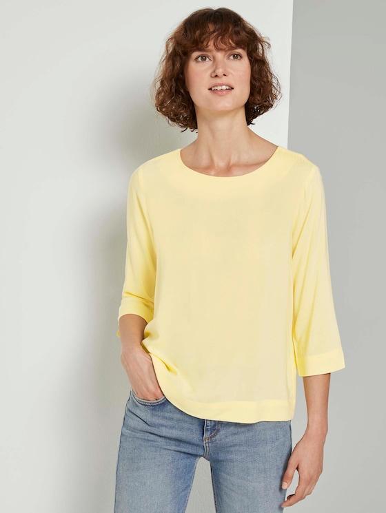 Bluse mit 3/4-Arm - Frauen - light honey popcorn - 5 - TOM TAILOR