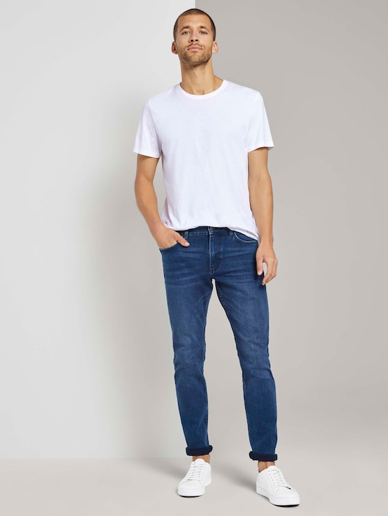 Josh regular slim jeans - Men - mid stone blue black denim - 3 - TOM TAILOR
