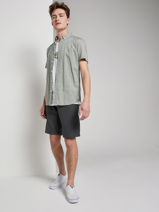 Jogger-Shorts mit Karomuster - Männer - Unique Check Antra - 3 - TOM TAILOR Denim