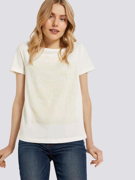 T-Shirt mit Print - Frauen - Dove White - 5 - TOM TAILOR