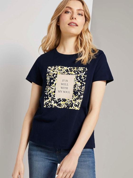 T-Shirt mit Print - Frauen - Sky Captain Blue - 5 - TOM TAILOR