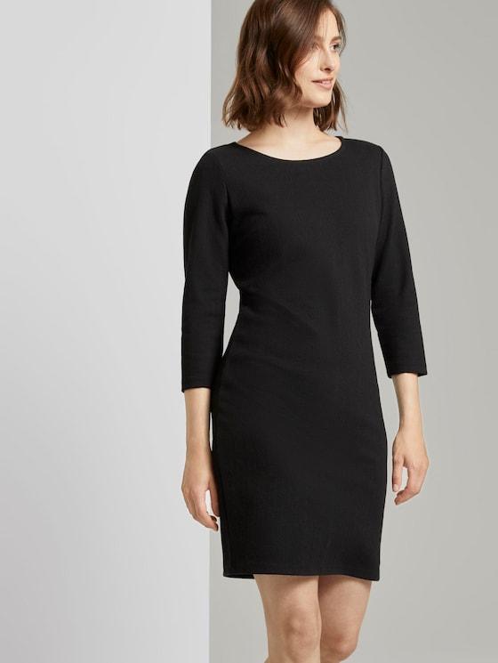 Strukturiertes Mini Bodycon-Kleid - Frauen - Deep Black - 5 - TOM TAILOR Denim