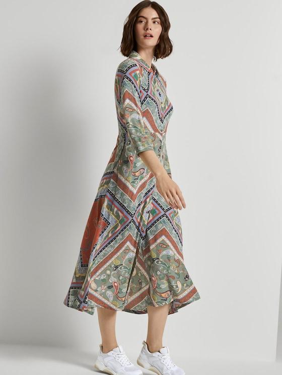 Patterned midi shirt dress - Women - patchwork paisley print - 5 - TOM TAILOR Denim