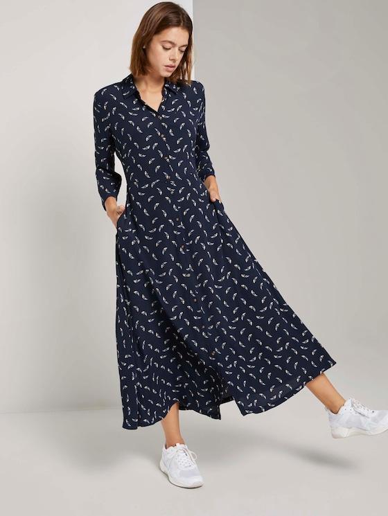 Patterned midi shirt dress - Women - small navy paisley - 5 - TOM TAILOR Denim