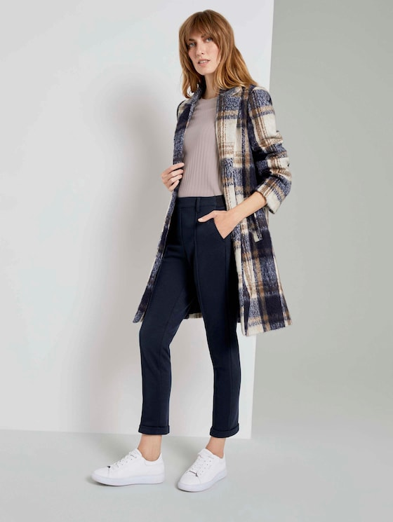 Loose fit trousers with bow pleats - Women - Sky Captain Blue - 3 - TOM TAILOR