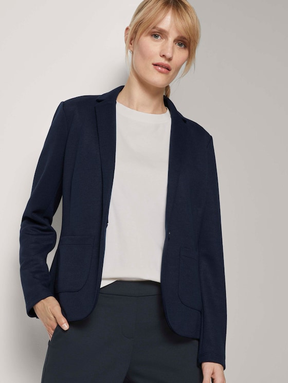 Strukturierter Blazer - Frauen - Sky Captain Blue - 5 - TOM TAILOR